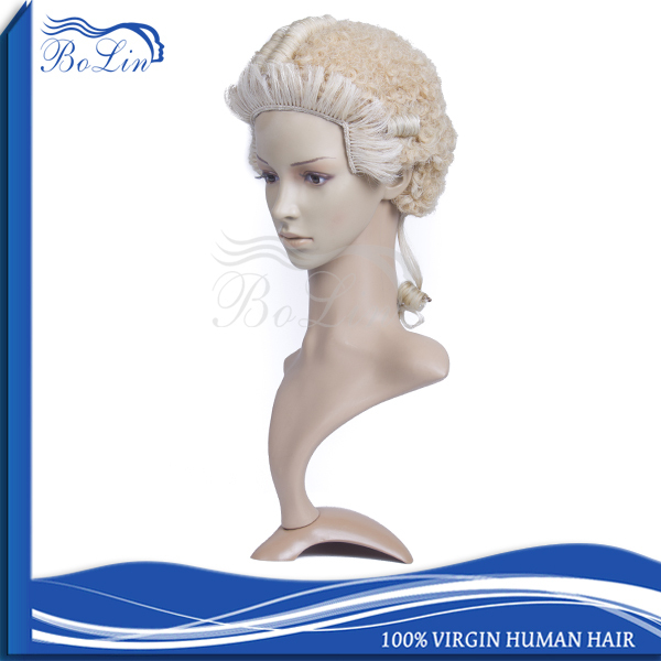 Super Quality Heat Resistant Synthetic Hair Wig Standard Design Hand Tied Wig Cheap Barrister Wig Accept PayPal