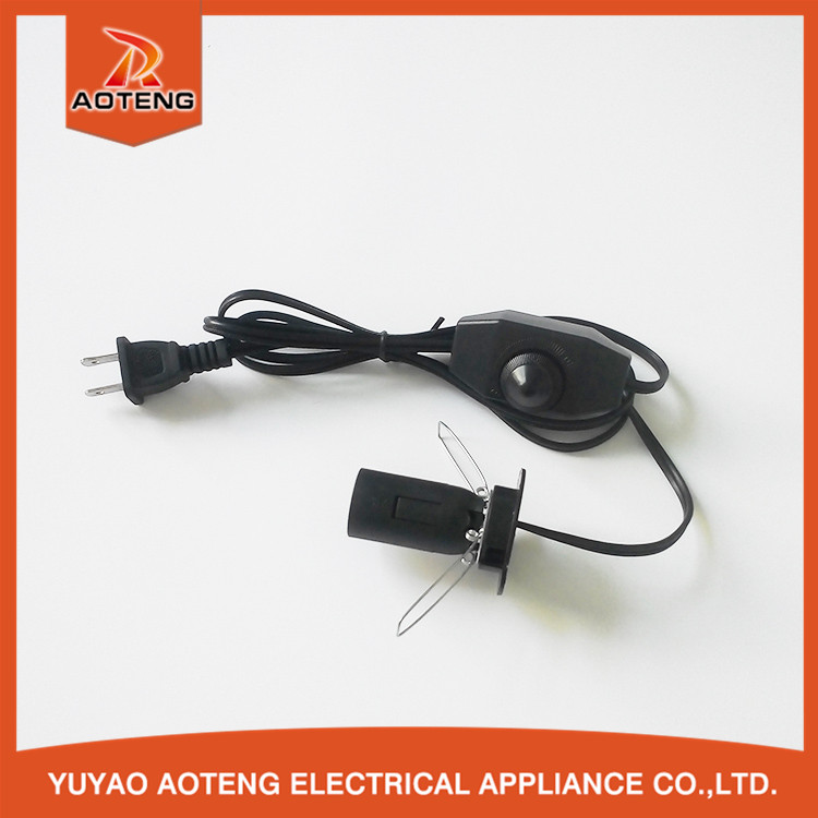 UL salt lamp power cord with dimmer switch E12 lamp holder slat lamp power cord with dimmer switch