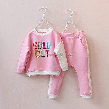 2015 spring new Korean Girls color letters spell color suit jacket long sleeve sweater piece pants collapse OEM supply