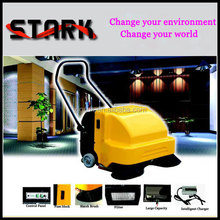 New generation cordless walk behind street sweeper , compact floor cleaning machine