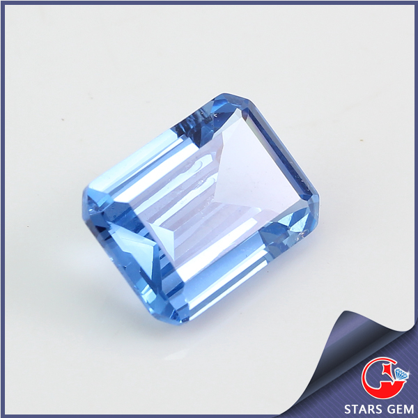light blue synthetic spinel stone manufacturer price fashion jewelry gemstone in China