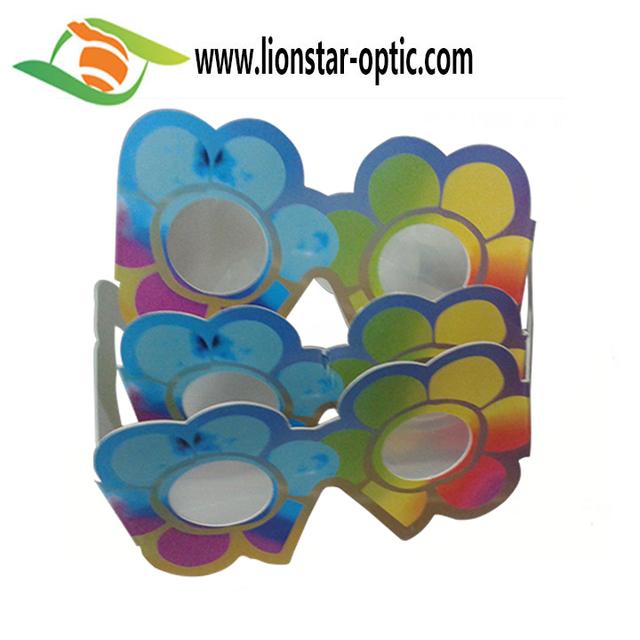 Wholesale Colorful Paper 3D Diffraction Glasses Love Heart Diffraction Glasses for Party