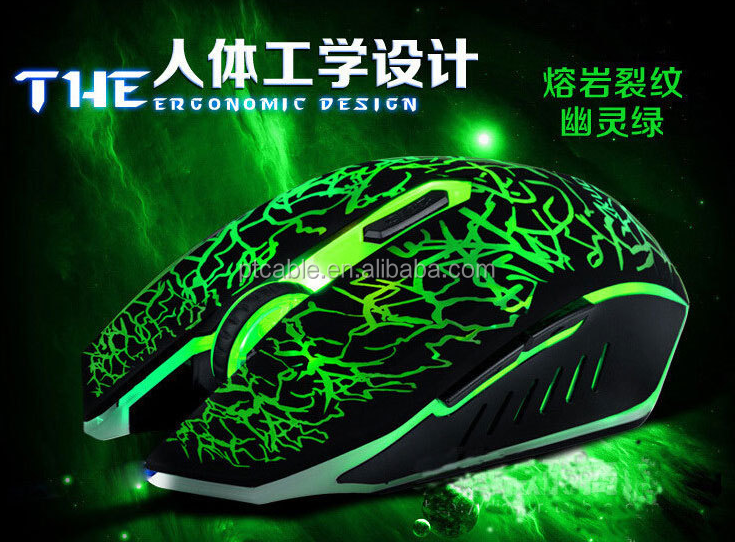 4000 DPI Crazing Colorful LED Lighted 6D Game Mouse