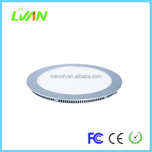 recessed round led flat panel wall light
