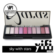 Naras Best Quality 10 cool Colors Star Pigment Eyeshadow