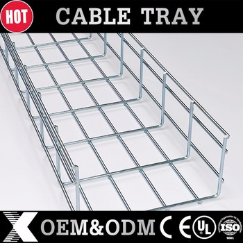 50x50mm Size Zinc Plated Galvanized Steel Wire Mesh Cable Tray
