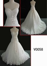 hot sell wedding gown with lace and sparkle beads
