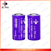 New Purple EFAN High drain 10.5A 18350 700mah 3.7v LiMn battery flat top