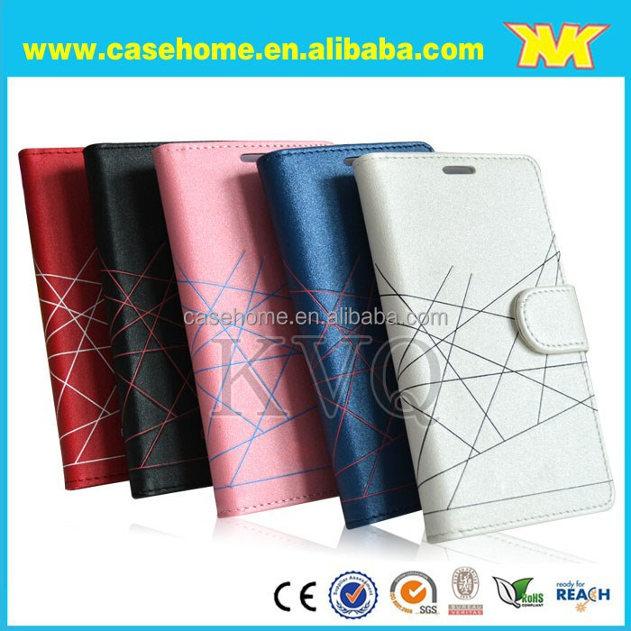 Luxury PU leather case for HTC 816,flip leather case for HTC 816