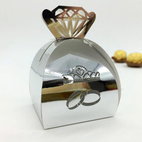 Silver Diamond Ring Laser Cut Candy