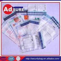 Transport security bag/police evidence bags heat seal/secure courier bags