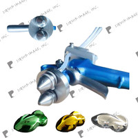 Liquid Image double nozzles NO. SG2H spray gun with no cup chrome painting system