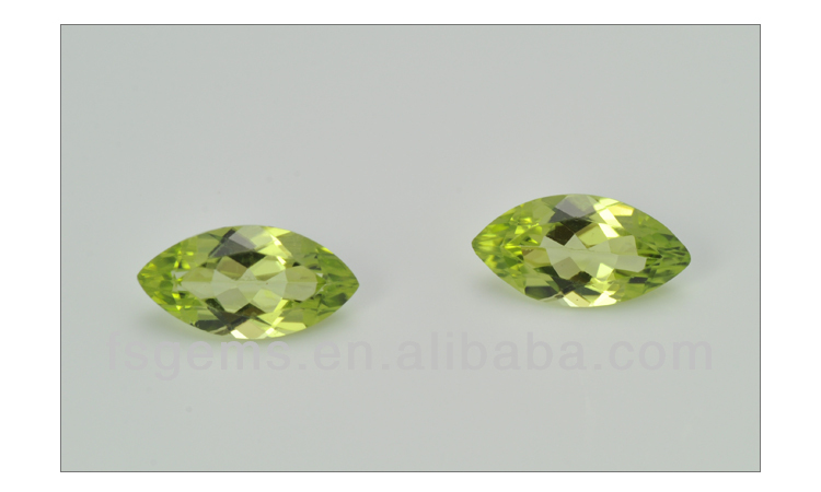 Best Price Stock Sales Green Color Marquise Cut 4*2mm Natural Peridot Stone Price Peridot Bead