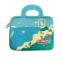 Fatastic Carton design Neoprene laptop case with handle with zipper