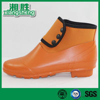 Good Quality orange women low cut rain boots