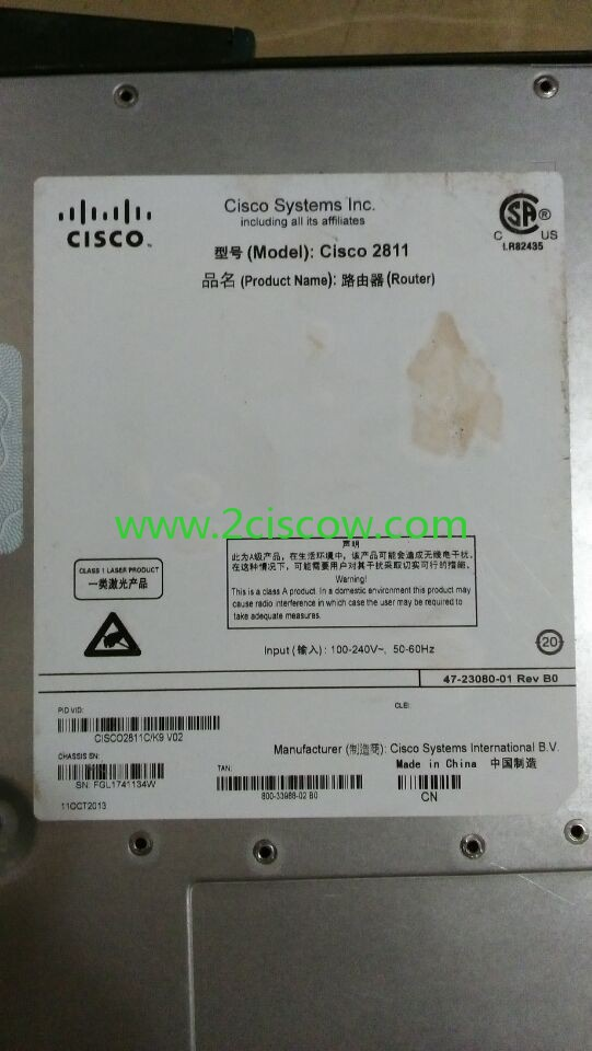 cisco2811c k9 v02 used cisco routers