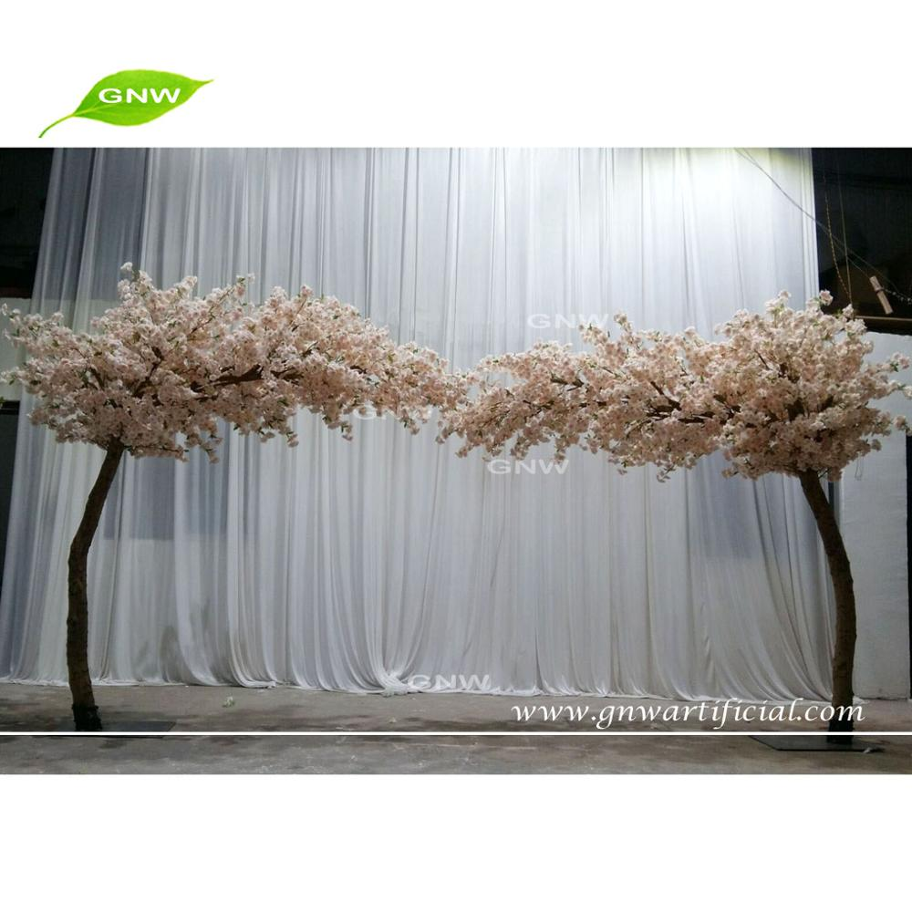 GNW BLS1707005 Beautiful pink cherry blossom arch flower bow for wedding
