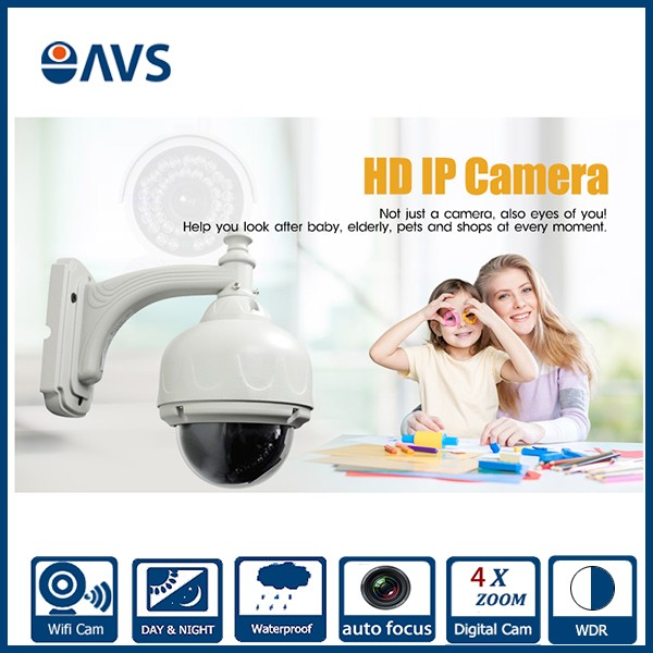 High Demand Indoor POE 1.<strong>O</strong> Megapixel Small 4X Zoom Autofocus P2P IP Speed Dome Camera