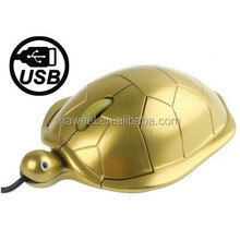 Turtle Style USB 3D Optical Mouse (Golden)