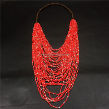 DY-BN027 Multi Layer Bead Necklace Vintage Long Sweater Chain Necklace Fashion Women Jewelry