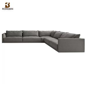 China home furniture manufacturer Living room contemporary sofa Furniture  italian lounge U shape sofa
