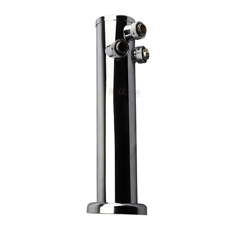 Draft Triple Beer Tower With Adjustable Beer Faucet Tap Stainless Steel Homebrew Bar
