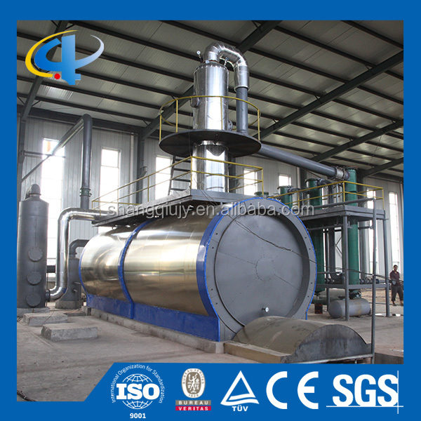 Good quality waste lubricant oil to base oil distillation plant with CE