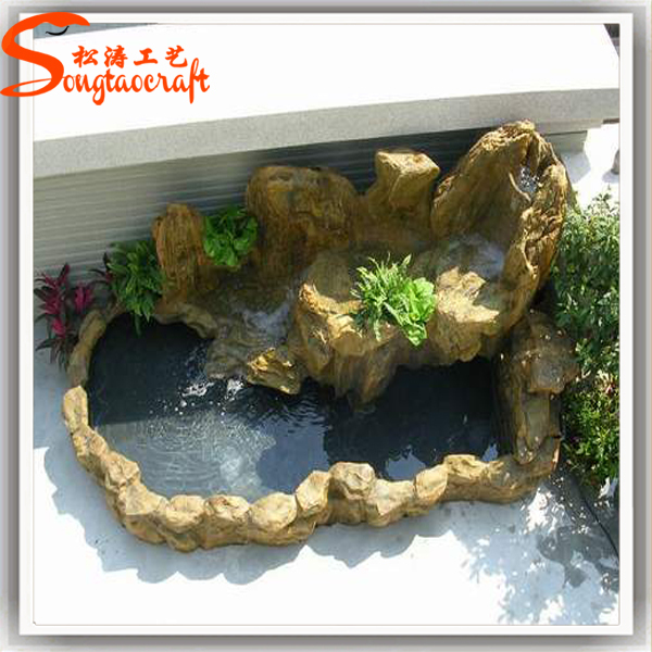 Made in china factory cheap price artificial fiberglass for Artificial water pond