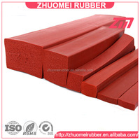 Square silicone extrusion foam rubber sponge seal strip