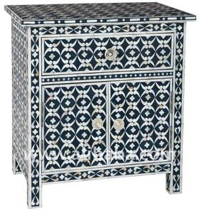 Udaipur Bone Inlay Bedside Table