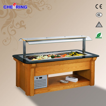 Superbe Used Restaurant Equipment For Sale/ Salad Bar/Commercial Bartable Top  Refrigerated Salad Bar