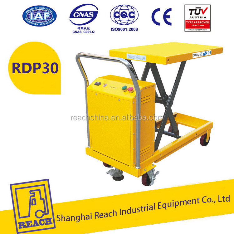 Easy operate low price double scissors electric lift table