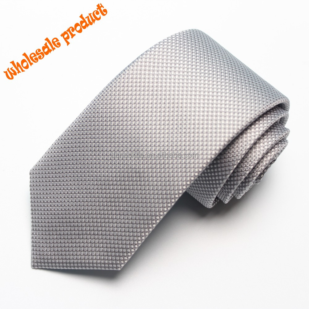 wholesale neck <strong>ties</strong> for mens 100% silk woven in silver