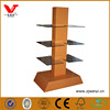 Retail store mdf & tempered glass bag and shoe shop display stand/cabinets