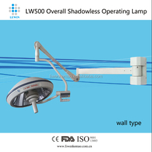 For operating rooms and ICU wall mounted operating light