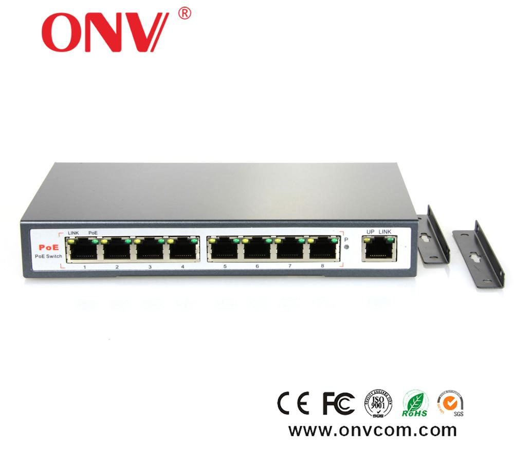 8 Port Poe Ethernet Switch 10/100mbps Network Switch Rack With Ce ...