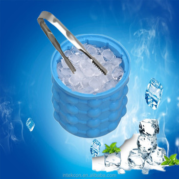 2018Best Factory price custom ice bucket with Ice clip Eco-Friendly Feature and Silicone Rubber Material Ice Cube Maker