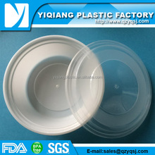 Delivery stackable hot liquid microwave airline food packaging with dome lids