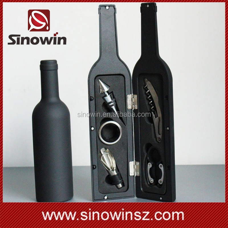 5 piece bottle shaped wine opener accessory travel set buy wine accessory wine accessory - Wine rack shaped like wine bottle ...