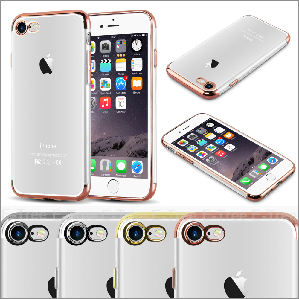 for iphone 7 back cover case tpu+chrome, cheap mobile phones cover for iphone 7 bumper case chrome