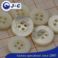 nature white color trocas shell button
