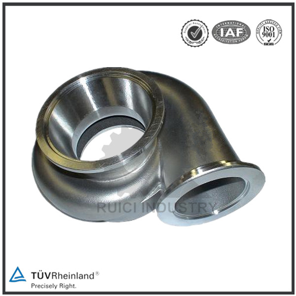 Lost wax investment casting stainless steel turbo housing