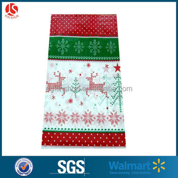 red white polka dot reindeer design large christmas table cover