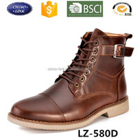 Custom made men genuine leather rubber sole high cut ankle military boot shoes good quality army boots for sale