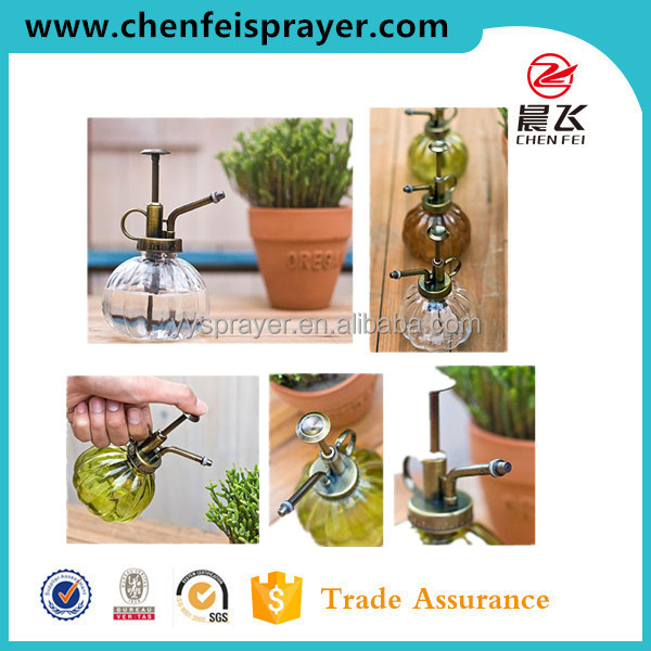 Garden water flower custom 33 plastic or chromed garden sprayer pump for bottle