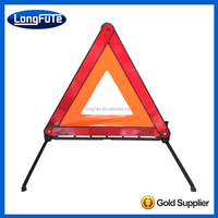 EMERGENCY WARNING REFLECTOR HAZARD KIT 3 LARGE SAFETY TRIANGLES