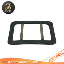 Classical arch shape belt buckles cover fabric for garment accessories