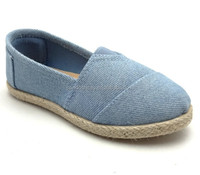 Cheap Slip on Summer Custom Canvas Upper Material Espadrilles, Flat Rope Made Sole Walking Shoes Without lace