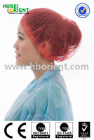 Medical Consumables Supplier Disposable Nonwoven mob cap / Bouffant Cap / Hair Nets