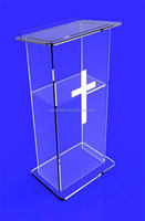 New classical black wooden acrylic lectern rostrum